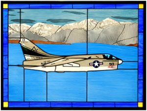 A-7 Corsair II Stained Glass