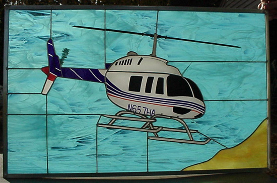 Bell 206 L4 Stained Glass
