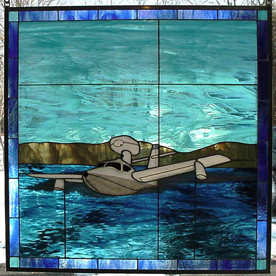 Lake LA-4 BUCCANEER Stained Glass