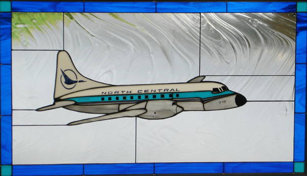 North Central Airlines Convair 580 Stained Glass