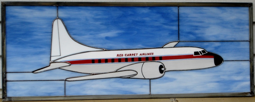 Red Carpet Airlines Convair 440 - Stained Glass