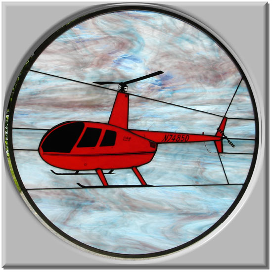 Robinson R-44 Stained Glass