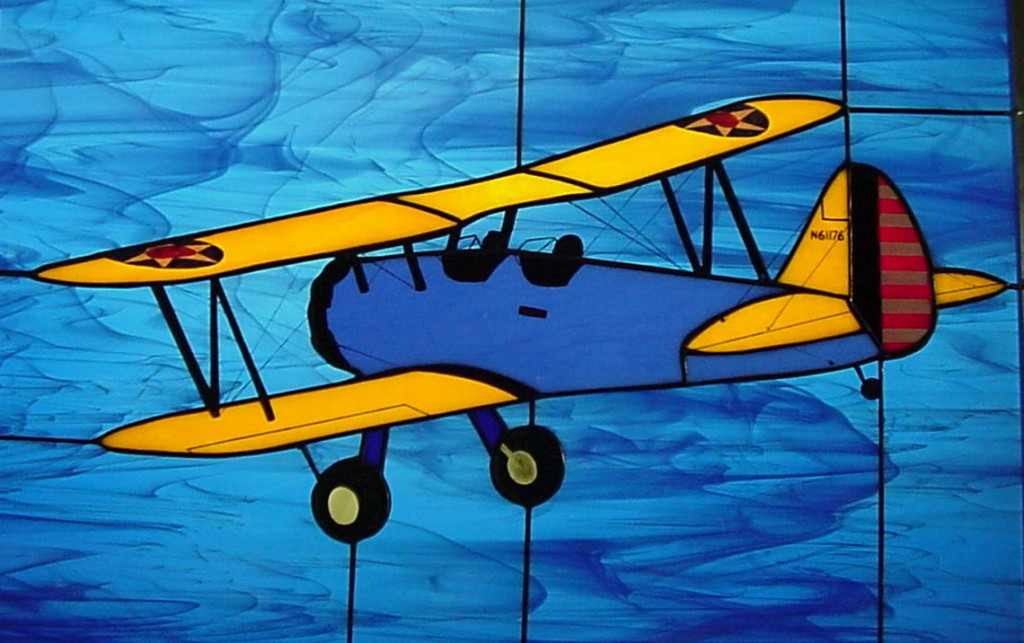 Stearman PT-17 Stained Glass