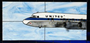 UAL DC-6B Stained Glass