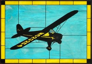 Black Cub Stained Glass