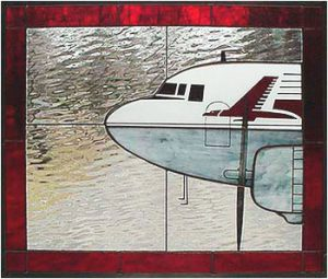 Capital Airlines DC-3 Stained Glass