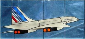 Air France CONCORDE Stained Glass