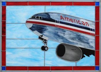 American Airlines 777 Stained Glass