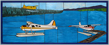 3 FloatPlanes Stained Glass