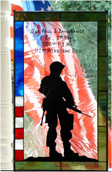 82nd Airborne -- WWII Stained Glass