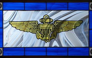 US Navy Pilot's Wings Stained Glass