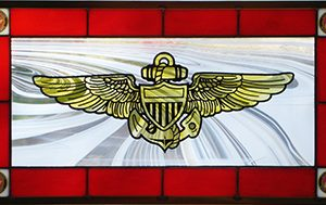 USMC Pilot's Wings Stained Glass