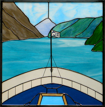 Cruise Ship Bow Stained Glass