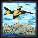 L-39 Camo Stained Glass