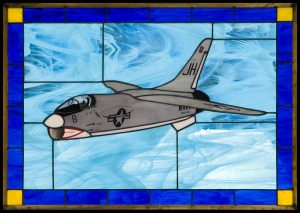 F8E Crusader Stained Glass