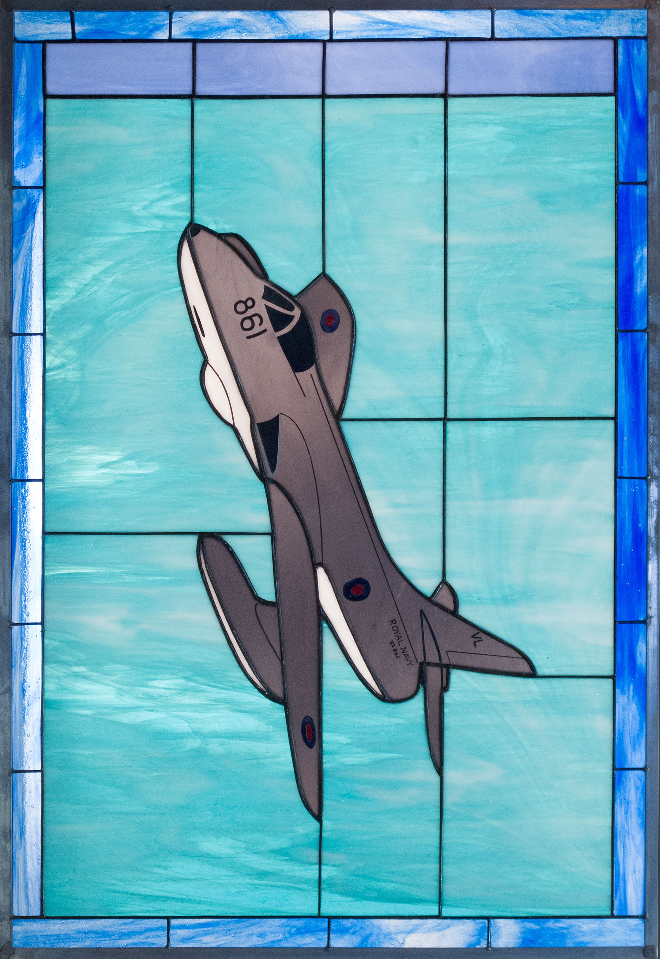 Hawker Hunter Stained Glass