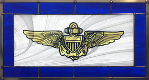 Navy Wings Stained Glass