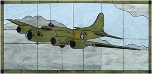 "B-17F ""Memphis Belle"" Stained Glass"