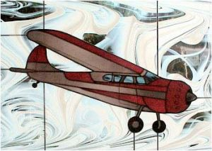 Cessna 195 Stained Glass