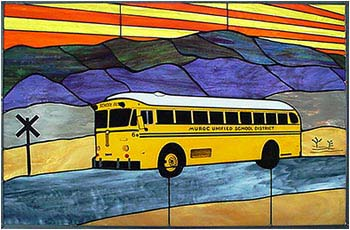 Crown Motor Coach Stained Glass