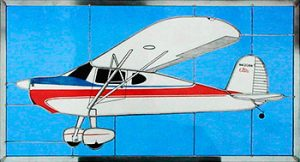 Cessna 140 Stained Glass