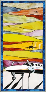 Cessna 425 Stained Glass
