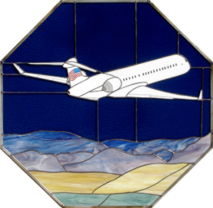CRJ-900 Flag-Flyer Stained Glass