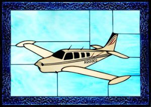 Beech Bonanza A36 Stained Glass