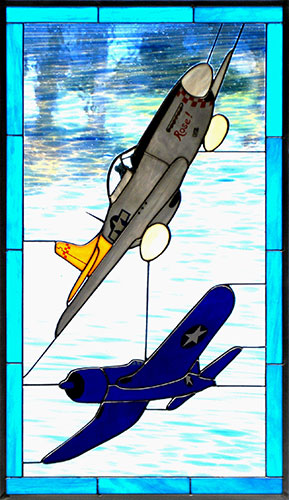US F4U and P-51D Stained Glass