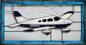 Piper PA28 stained glass