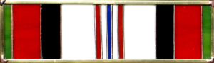 Afghanistan Military Service Ribbon Stained Glass