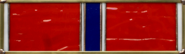 Bronze Star Military Service Ribbon Stained Glass