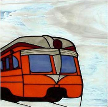 "Milwaukee Road ""Beavertail"" Stained Glass"