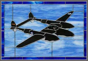 "P-38 – ""Glacier Girl"" Stained Glass"