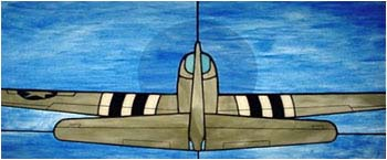 P-51D Mustang Stained Glass