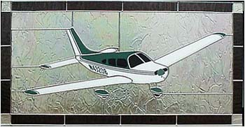 Piper Warrior Stained Glass