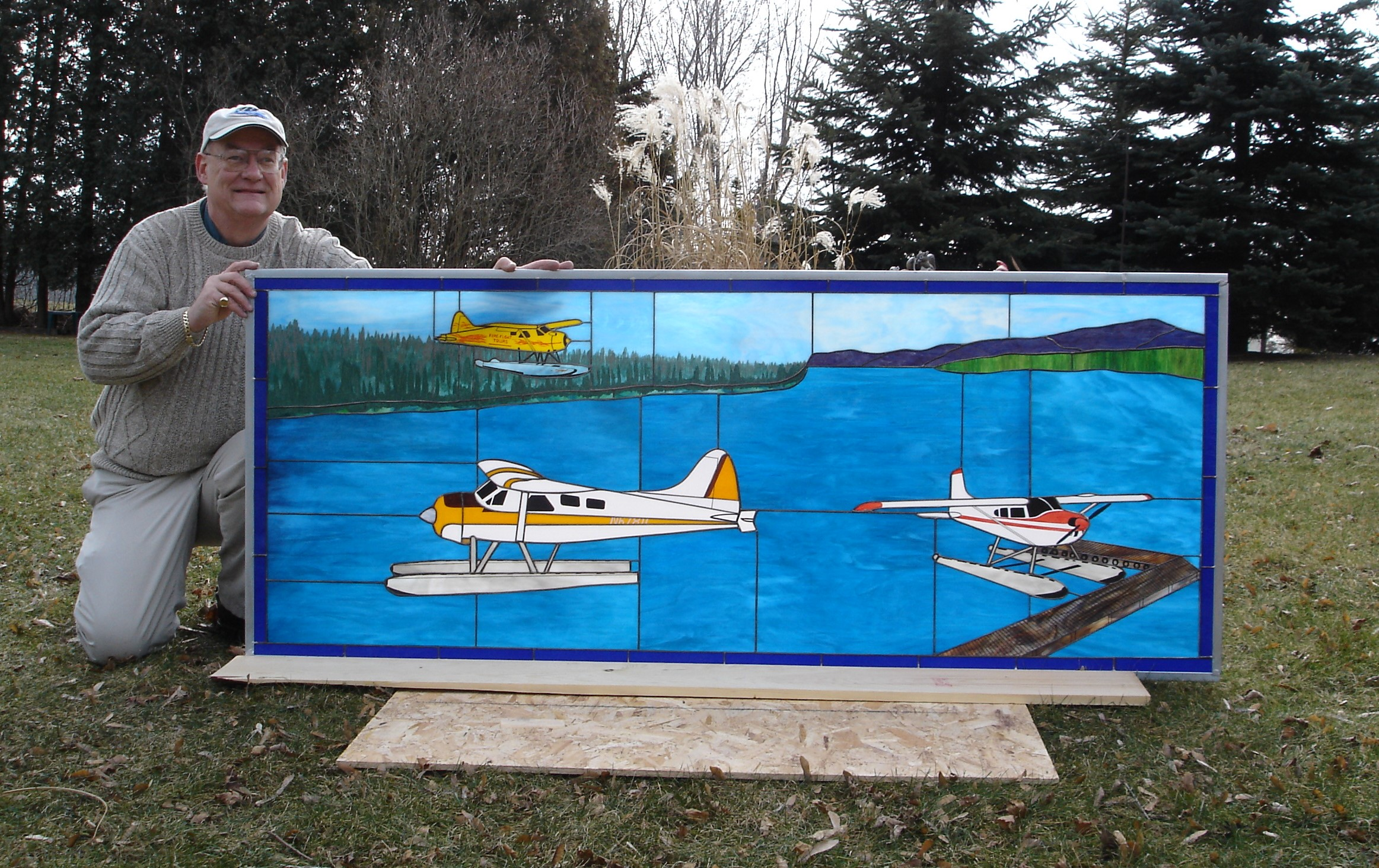 Stained Glass Float Planes