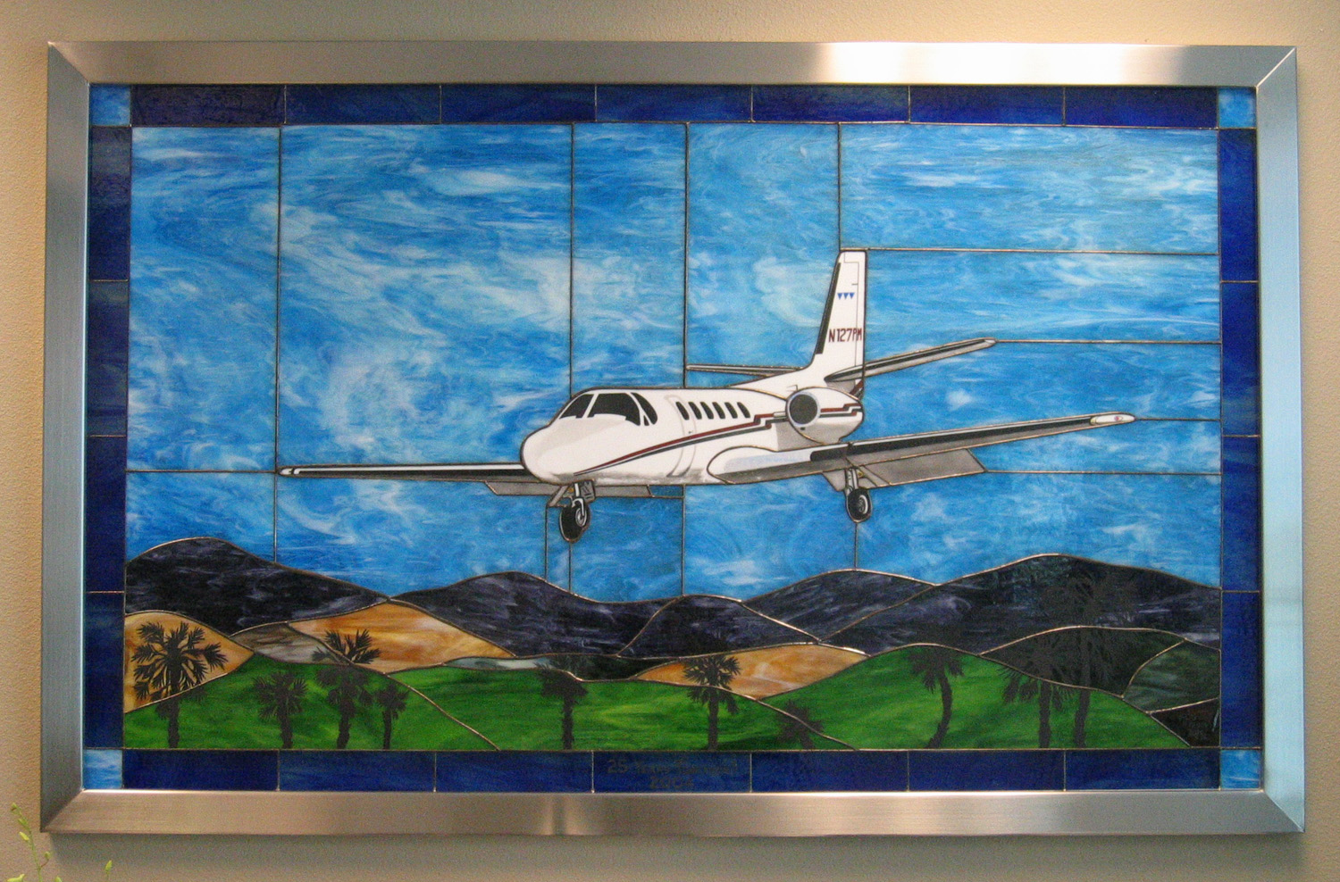 Aviation Stained Glass Artwork for Business
