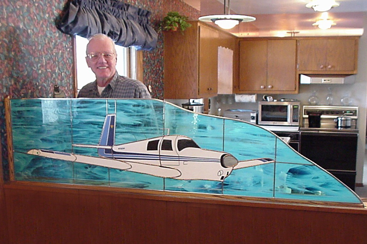 Aviation Stained Glass for Homes